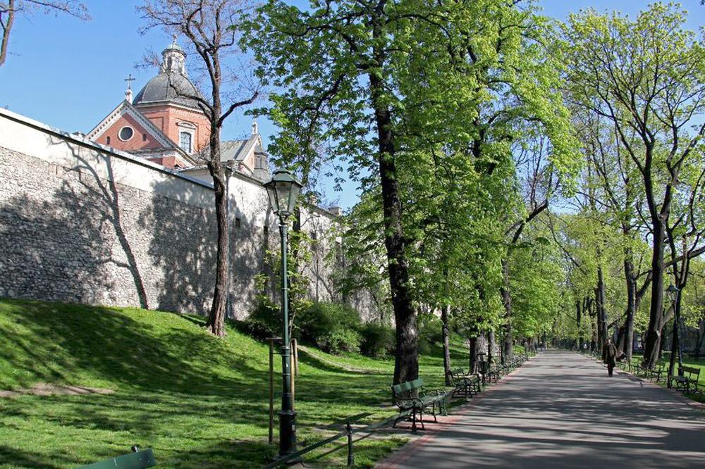 Фрагмент городских стен в Кракове