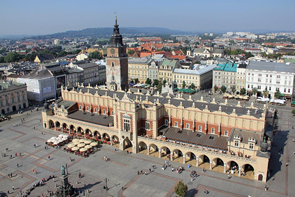Панорама Рыночной площади (Rynek Glowny)